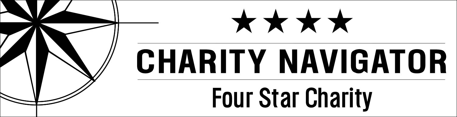 We are a Four Star Charity on Charity Navigator