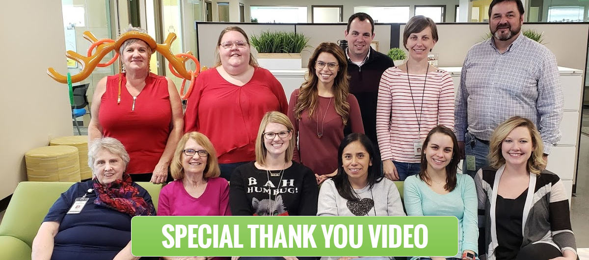 Thank you from the Second Harvest Family