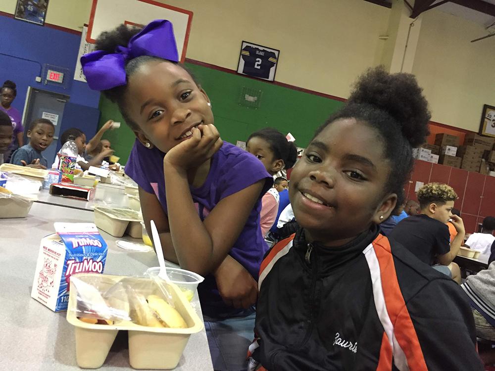 little girls eating summer meals