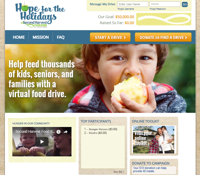 Click here to start your virtual food drive