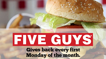 Five Guys gives back