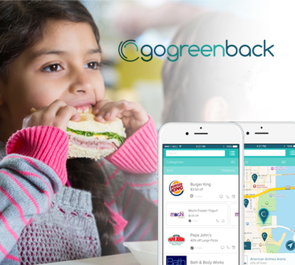 Save money and help us feed more families with gogreenback
