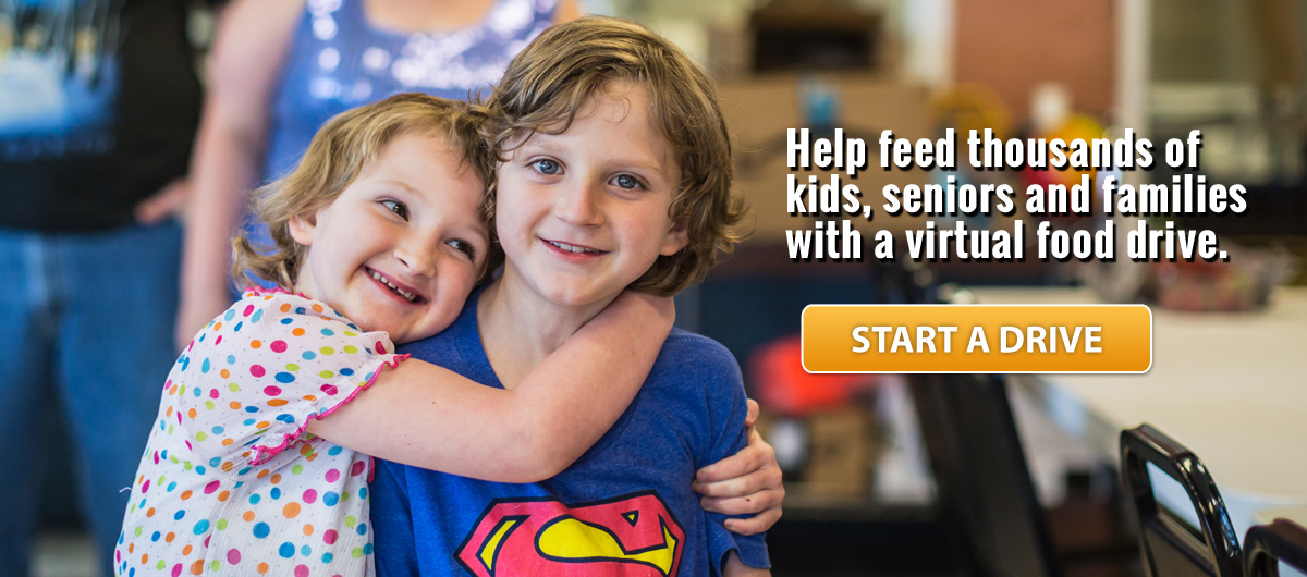 Help feed families, kids and seniors with a virtual food drive