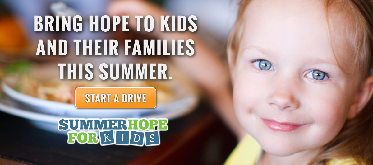 Bring hope to kids and families this summer with a virtual food drive.