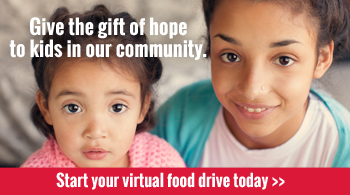 Give the gift of hope to kids with a virtual food drive