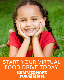 Start a virtual food drive for kids and families this summer
