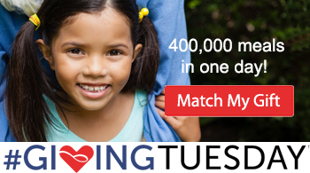 400,000 Meals in One Day for #GivingTuesday