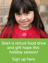 Start a virtual food drive and gift hope this holiday season!