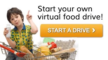 Start your own virtual food drive for our neighbors in need