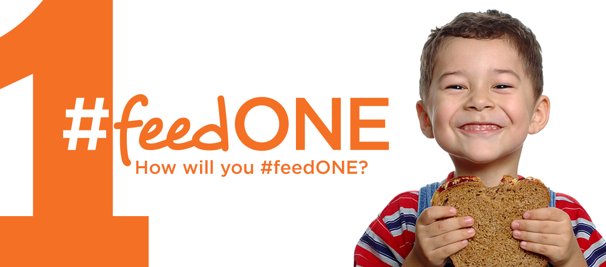 #feedONE for Hunger Action Month