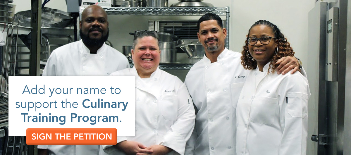 Add your name to support the Culinary Training Program