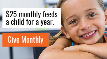 $25 monthly feeds a child for a year